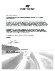 2006-2008 Four Winns Vista 318 Boat Owners Manual, 2006,2007,2008 page 3