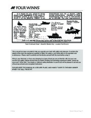 Four Winns V335 Boat Owners Manual, 2011 page 13