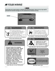 Four Winns V335 Boat Owners Manual, 2011 page 16