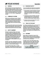 Four Winns V335 Boat Owners Manual, 2011 page 19