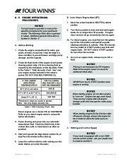 Four Winns V335 Boat Owners Manual, 2011 page 21