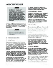 Four Winns V335 Boat Owners Manual, 2011 page 23