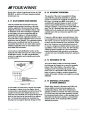 Four Winns V335 Boat Owners Manual, 2011 page 24