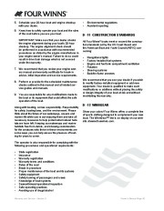 Four Winns V335 Boat Owners Manual, 2011 page 48