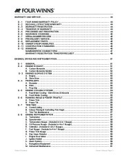 Four Winns V335 Boat Owners Manual, 2011 page 5