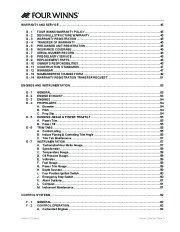 2006-2008 Four Winns Horizon 180 190 183 203 200 210 220 240 260 Boat Owners Manual, 2006,2007,2008 page 7