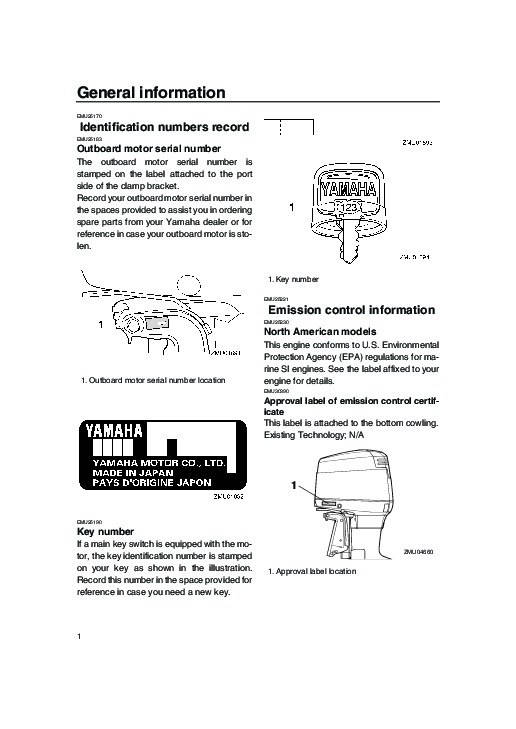 2006 yamaha outboard 150 boat motor owners manual for Boat motor repair manuals