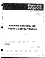 Perkins Engines 4 108 Parts Book Owners Guide page 1