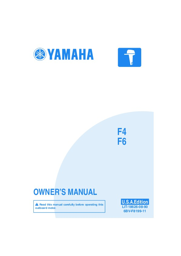 2008 yamaha outboard f4 f6 boat owners manual rh filemanual com yamaha f20 outboard owners manual yamaha 6hp outboard owners manual