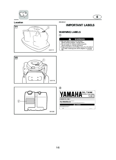 2004 Yamaha Outboard 115C 130C 150C V150C Boat Motor Owners Manual