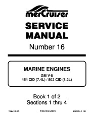 1993 1997 Mercury-MerCruiser GM V8 454 CID 7.4L and 502 CID 8.2L Marine Engines Service Manual Number 16 page 1