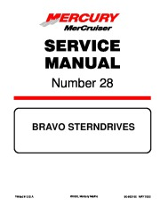 Mercury MerCruiser Bravo Outdrives Sterndrives Marine Engines Service Manual Number 28 page 1