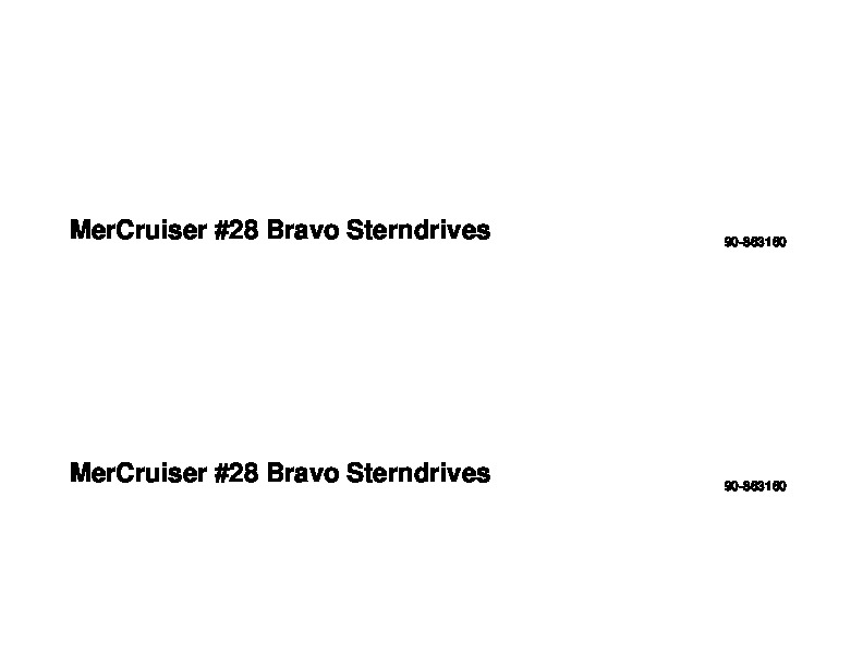 2001-2011 Mercury MerCruiser Bravo Outdrives Sterndrives Marine