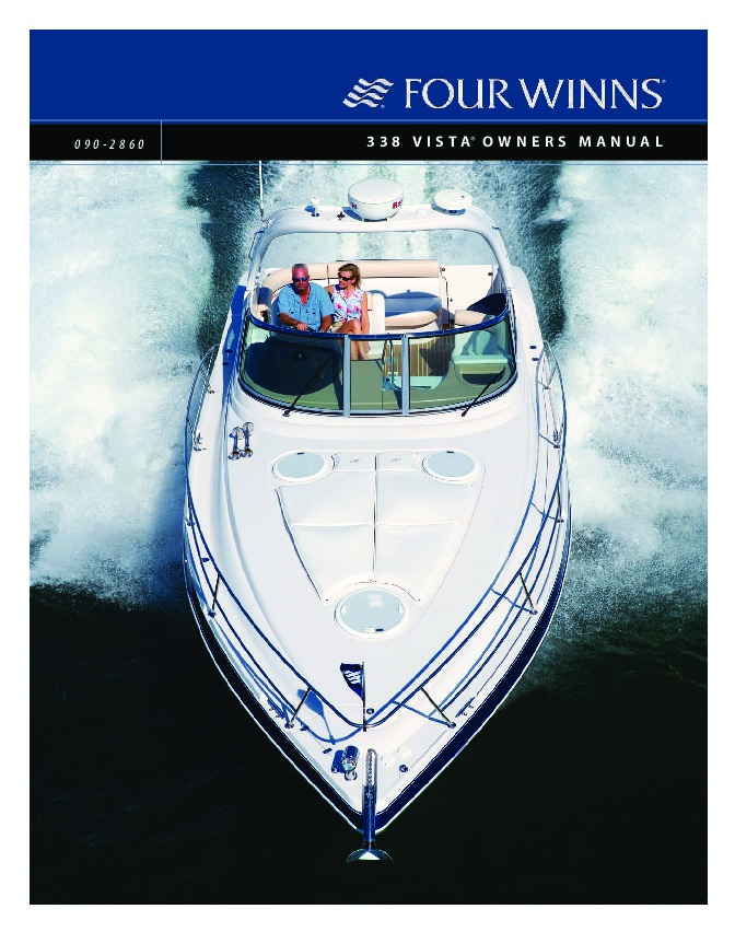 four winns vista 338 boat owners manual 2007 2008 rh marine filemanual com four winns vista 298 owners manual four winds owners manual
