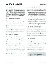 Four Winns Vista 338 Boat Owners Manual, 2007,2008 page 20