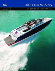 2008 Four Winns SL Series Boat Owners Manual page 1