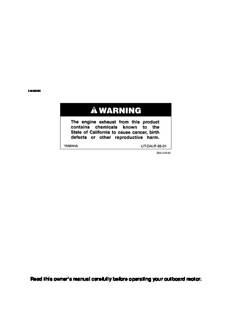 Yamaha service Manual F60